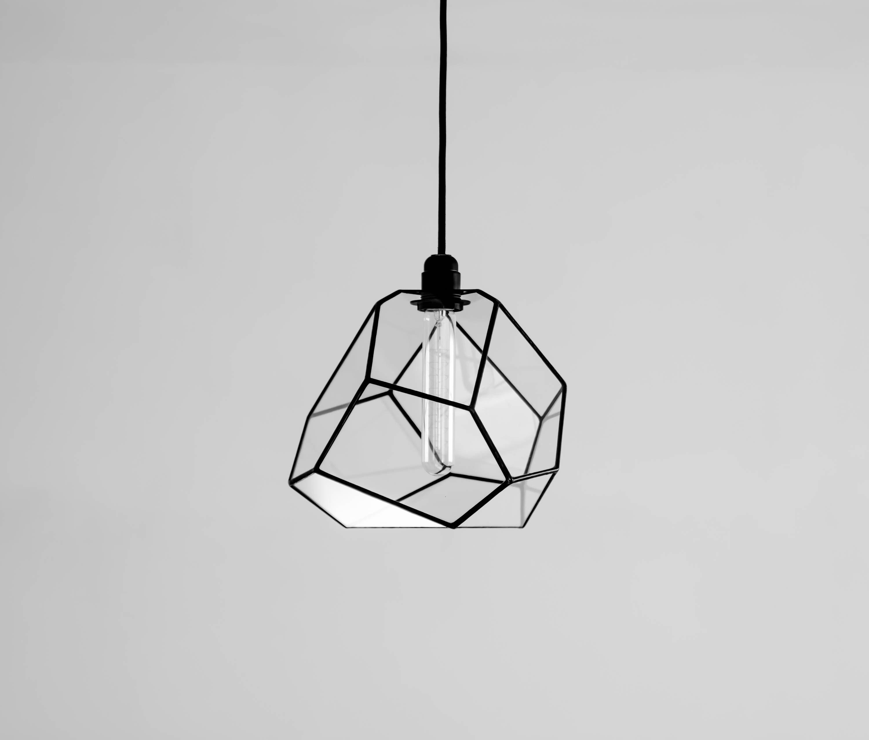 Spatial Crystallising Glass Chandelier Geometric Pendant Lighting Modern Retro Bulb