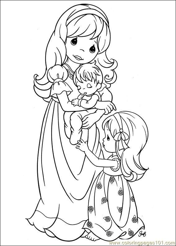 Google Image Result For Http Www Coloringpages101 Com Coloring Pages Precious Moment Precious Moments Coloring Pages Family Coloring Pages Mom Coloring Pages