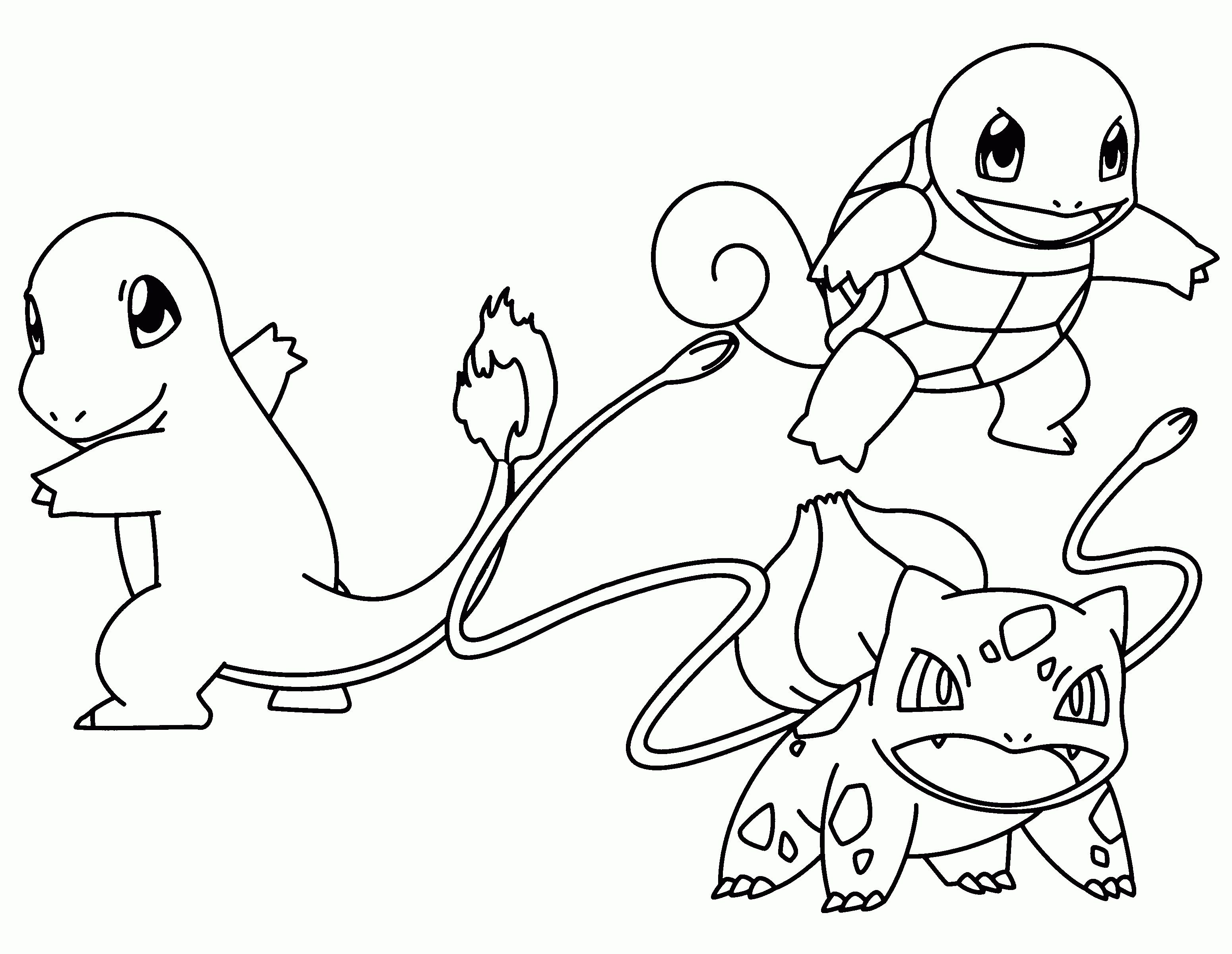 Pokemon Coloring Pages Bulbasaur Collection Download Malarbok Mala