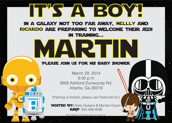 Good Star Wars Baby Shower / Birthday Invitation By Nellyaortiz On Etsy
