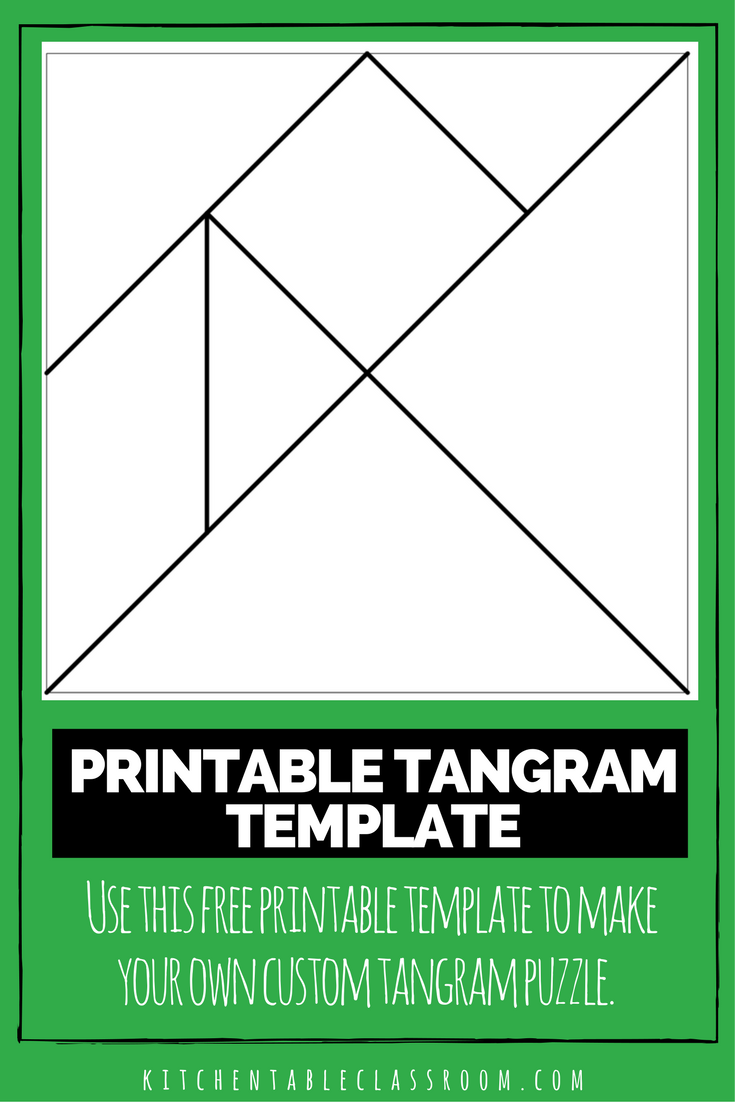 image about Tangram Template Printable referred to as Printable Tangrams - An Basic Do-it-yourself Tangram Template Circle