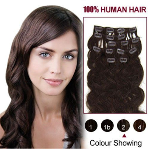 """Hairextensionsale® 20"""" 7pcs Wavy Clip in Remy Human Hair Extensions Colors for Your Best Selection F.."""