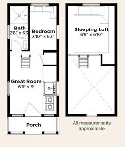 tiny house floor plans think big live small layouts grundriss. Black Bedroom Furniture Sets. Home Design Ideas