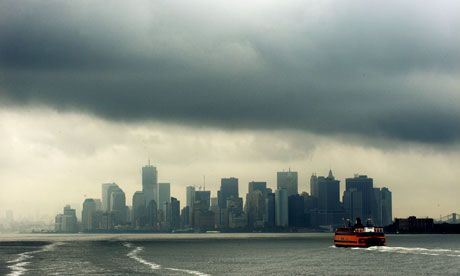 The Manhattan skyline as Hurricane Irene approached.