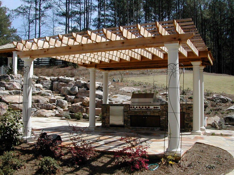 outdoor kitchen pergola outdoor kitchen and pergola project in outdoor kitchen designs with pergolas home design ideas