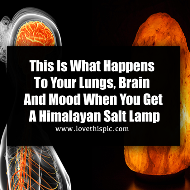 How To Clean Salt Lamp This Is What Happens To Your Lungs Brain And Mood When You Get A