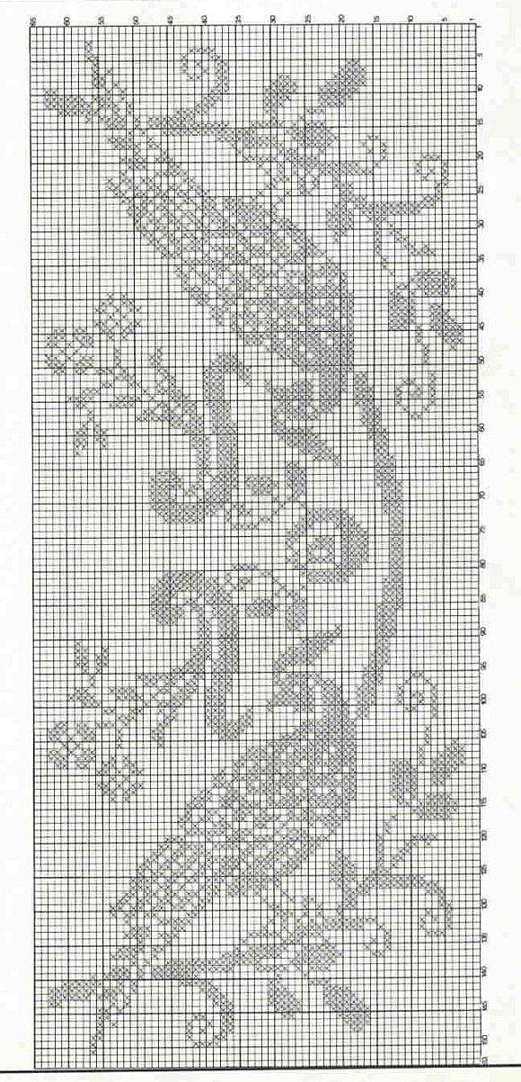 grille chemin de table aux oiseaux exotiques | Crochet - Filet doily ...