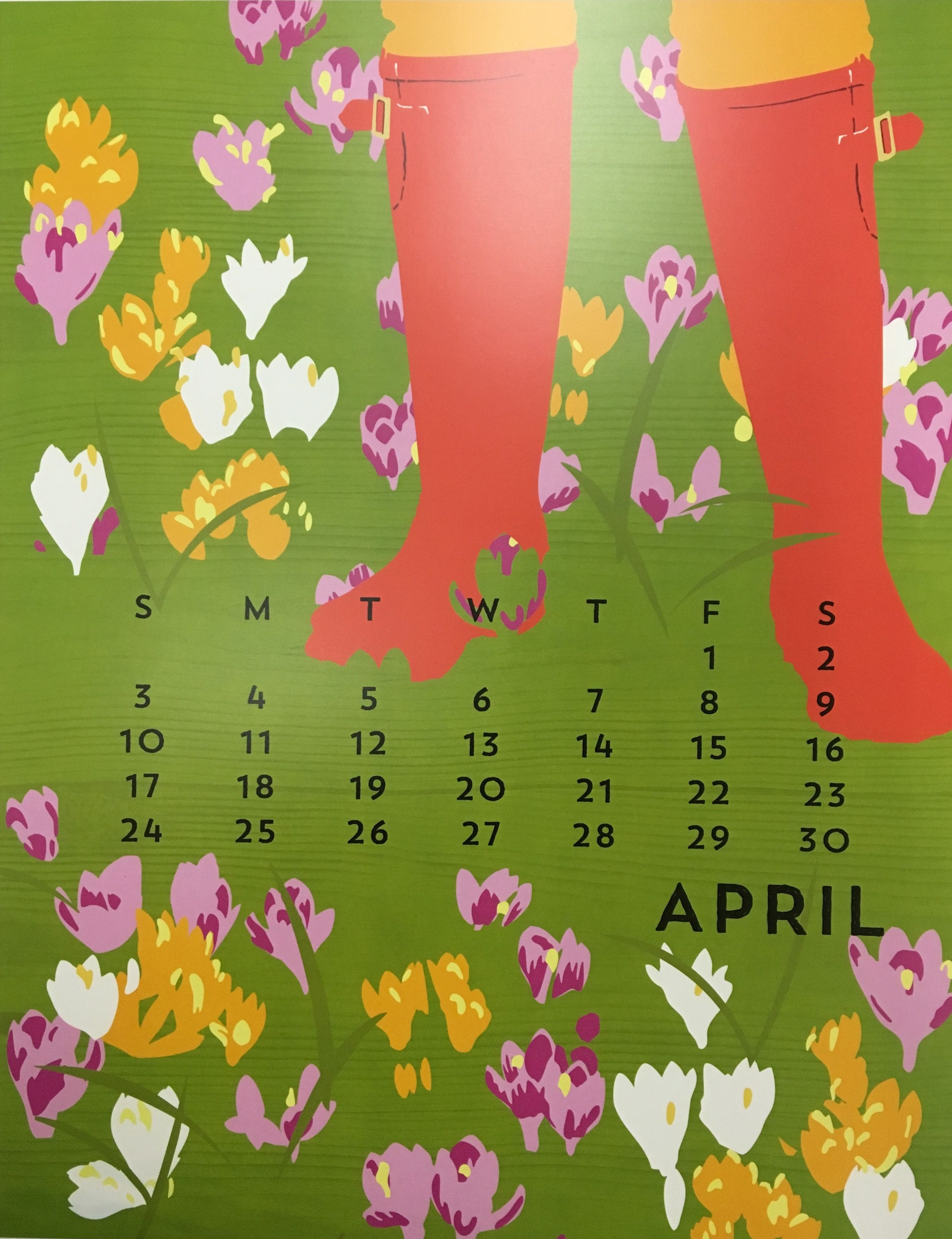 Linnea Design 2019 Poster Calendar 14 X 11 Inches Art By Johanna Riley