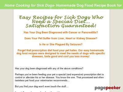 Home Cooking for #Sick_Dogs - Avoiding Prescription #Diets_for_Pets Forget that prescription diet food your pet hates. Our easy homemade dog food recipes were designed to meet the needs of dogs with specific diseases, taste good and cost you less money