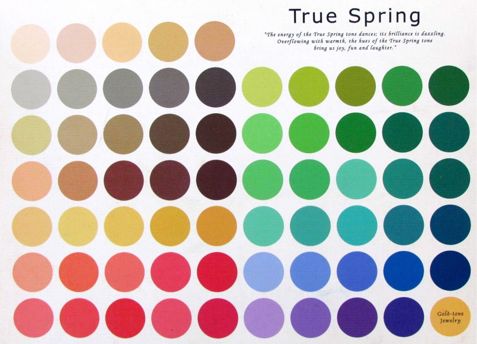 the true spring color pallet please do take in to consideration