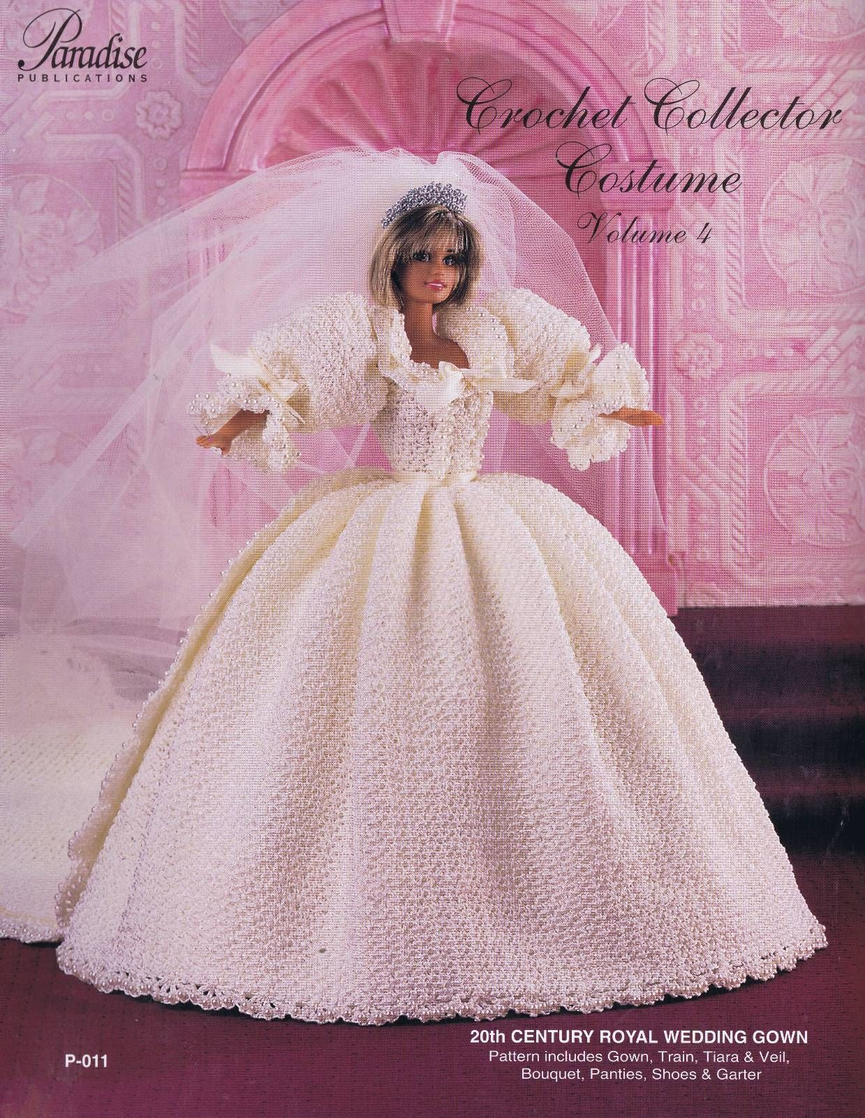 Paradise crochet pattern fashion doll costume 20th century royal paradise crochet pattern fashion doll costume 20th century royal wedding gown ebay bankloansurffo Gallery