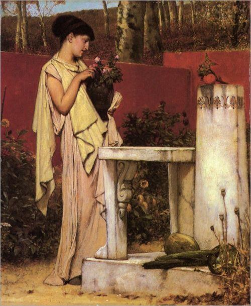 a last rose - Sir Lawrence Alma Tadema