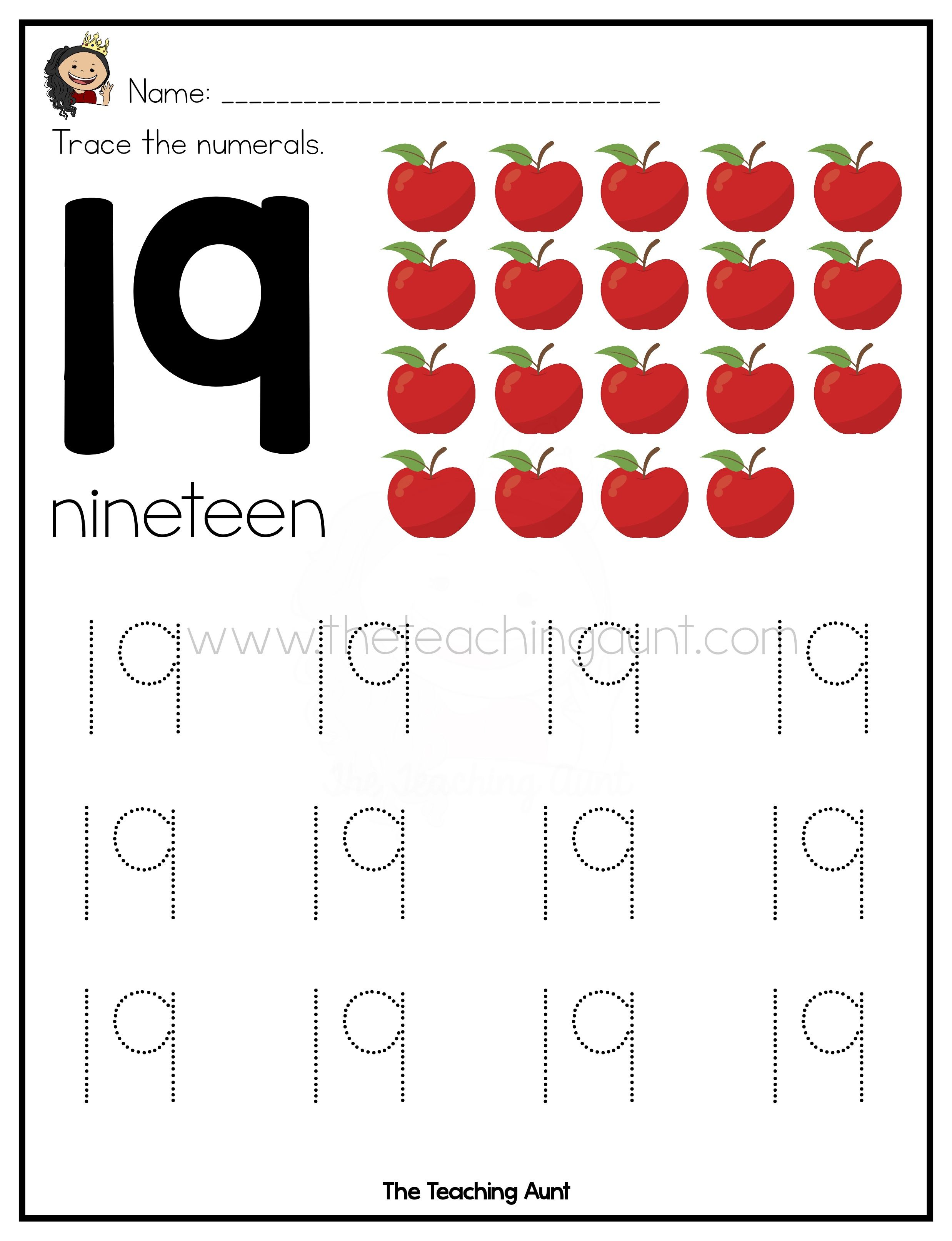 Free Writing Numbers 1 To 20 Worksheets