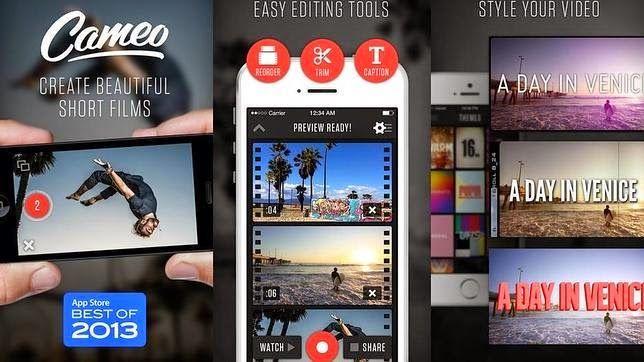 Este editor de vídeos permite filmar y editar videos desde un iPhone fácilmente.