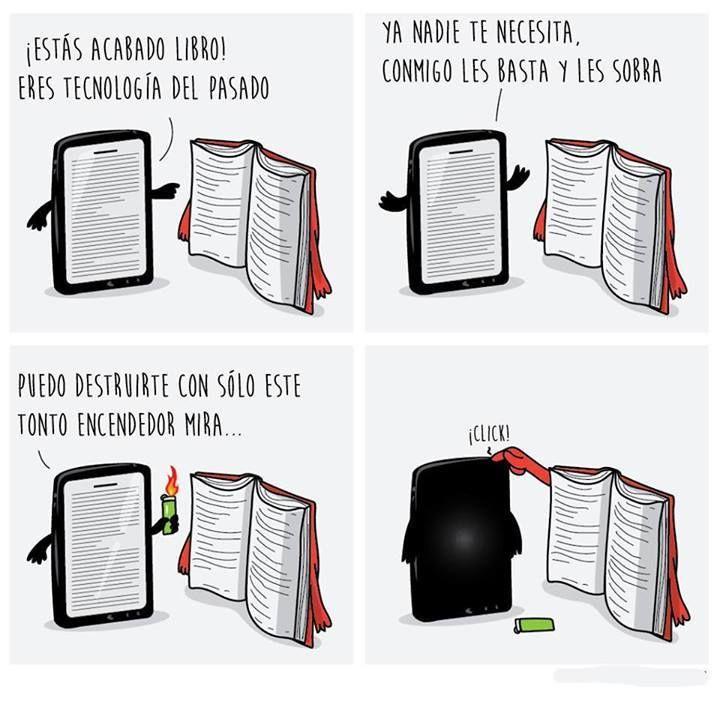 Libros En Fisico Vs Libros Digitales Con Imagenes Memes De