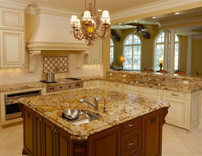 Best Glazed White Kitchen Cabinets Lapidus Gold Granite 400 x 300