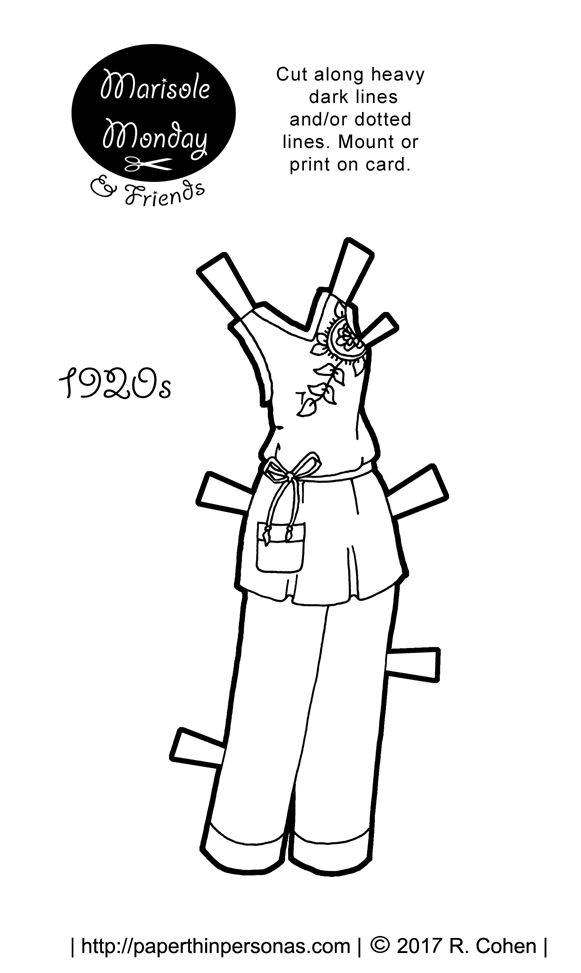 1920s Pajamas for Marisole Monday & Her Printable Paper Doll Friends ...