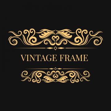 Logo Frame Vintage Business Label Gold Border Ornament Badge Frames Retro Ornaments Marketing Luxury Eleg Vintage Borders Vector Art Design Frame Border Design