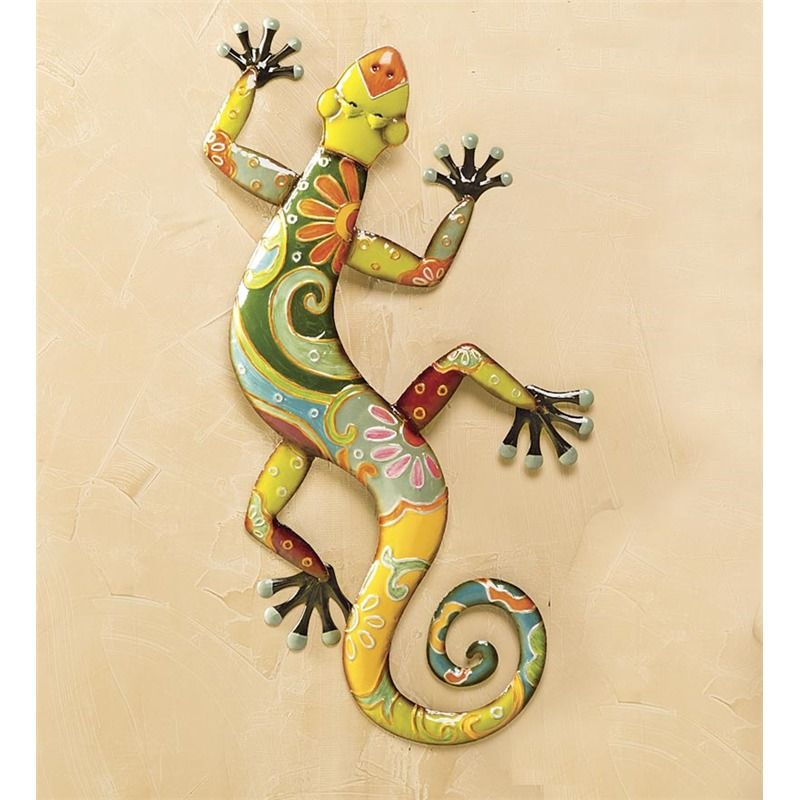 Attractive Gecko Metal Wall Art Image - Art & Wall Decor - hecatalog ...