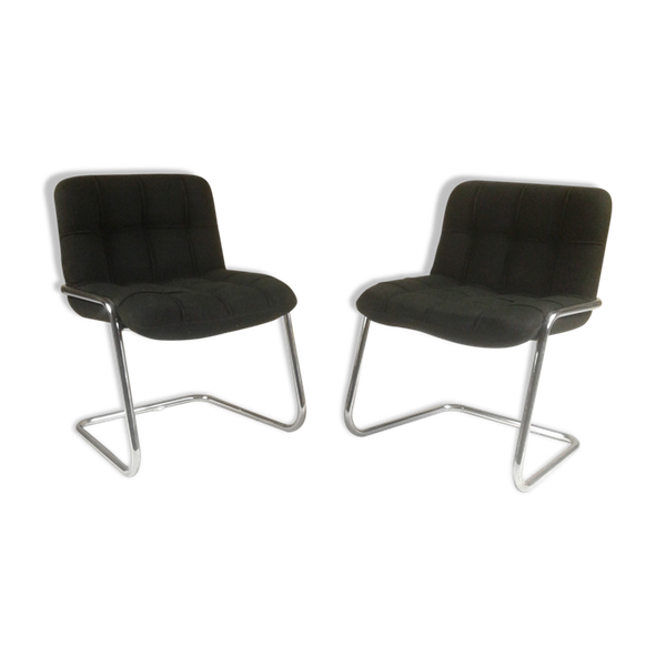 Paire de fauteuils Storm par Yves Chrystin pour Airborne.   – Products