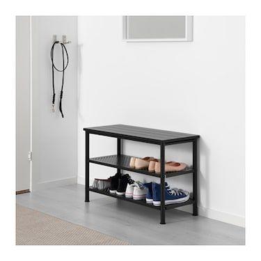 Schoenenrek Met Spiegel.Pinnig Bank Met Schoenenrek Zwart 79 Cm Entree Bench With Shoe