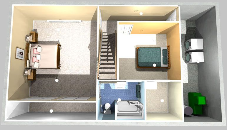 Two Bedrooms One Bath Project Simply Additions Basement Bathroom Basement Remodeling Small Basement Bathroom
