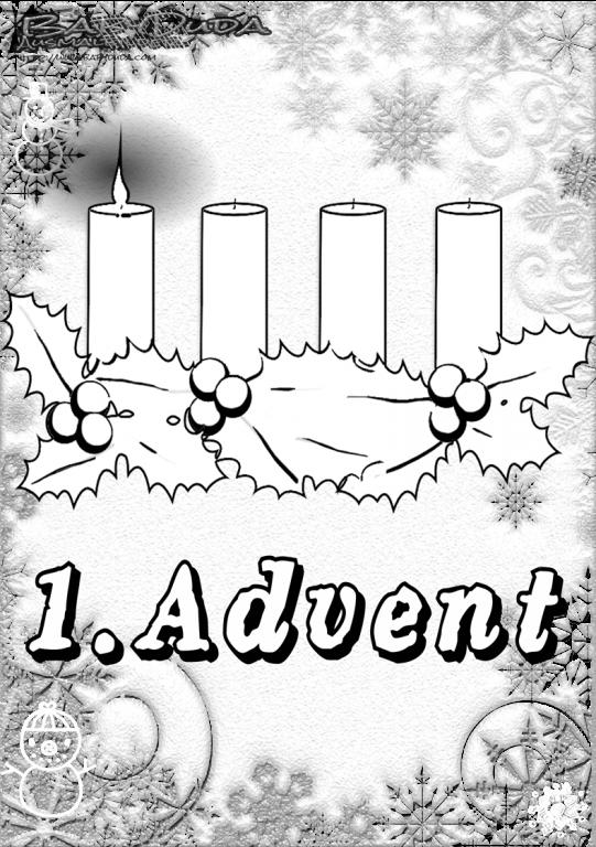Kerzen zum Ausmalen in der Adventszeit Ausmalbilder