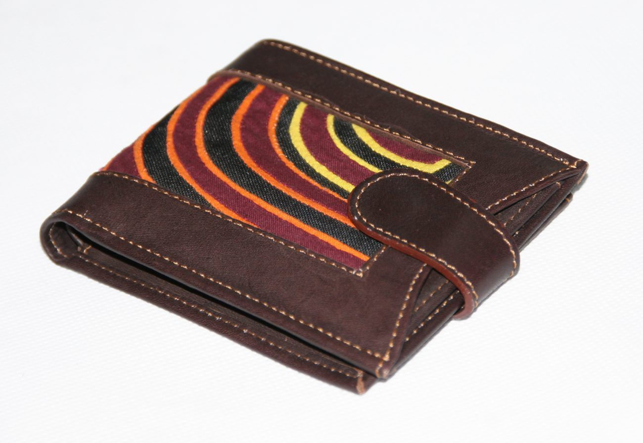 Gentlemen Leather Wallet Geometrical Paths Unique From Wallet