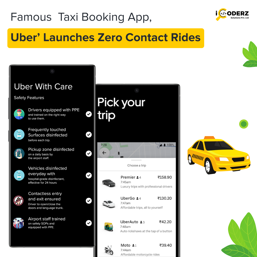 Famous Taxi Booking App, Uber Launches Zero Contact Rides