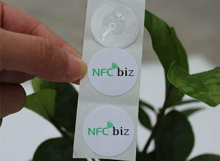 Φ25mm NTAG203 Tag Chip: NTAG203 PVC sticker Tag Size:Φ25mm Antenna size:Φ22mm Samples available