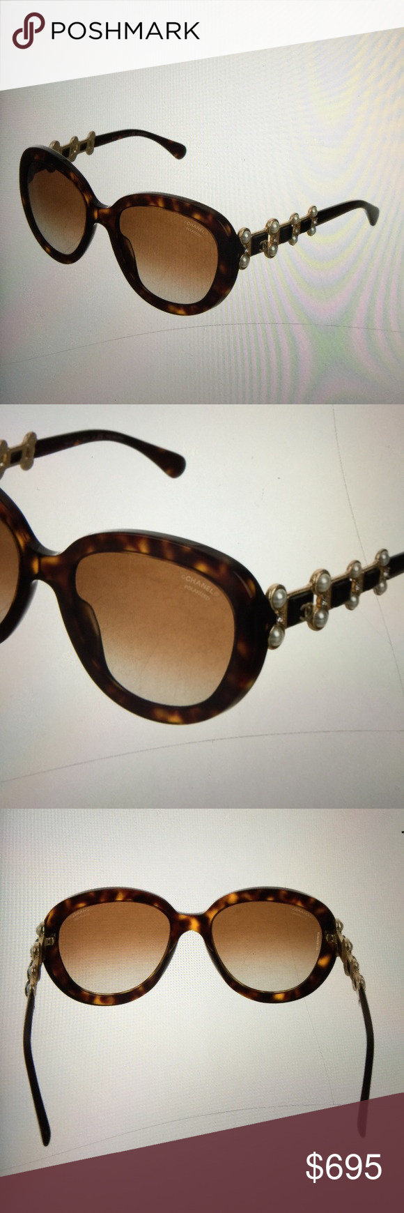 2dea18dcd6 Chanel Sunglasses Chanel Bijou 5334 Polarized Sunglasses. Brown  tortoiseshell with goldtone hardware