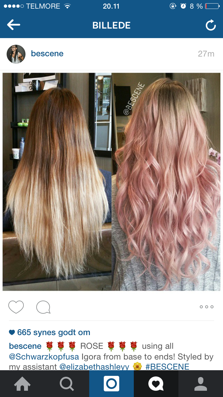 Rose gold ombre before and after l o x pinterest rose gold