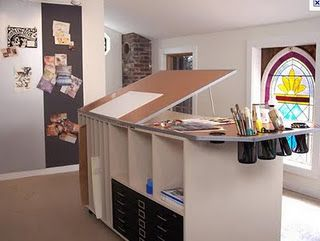 Clean, Bright And Ready For Work. Awesome For A Work Table : ) · Art Studio  ...