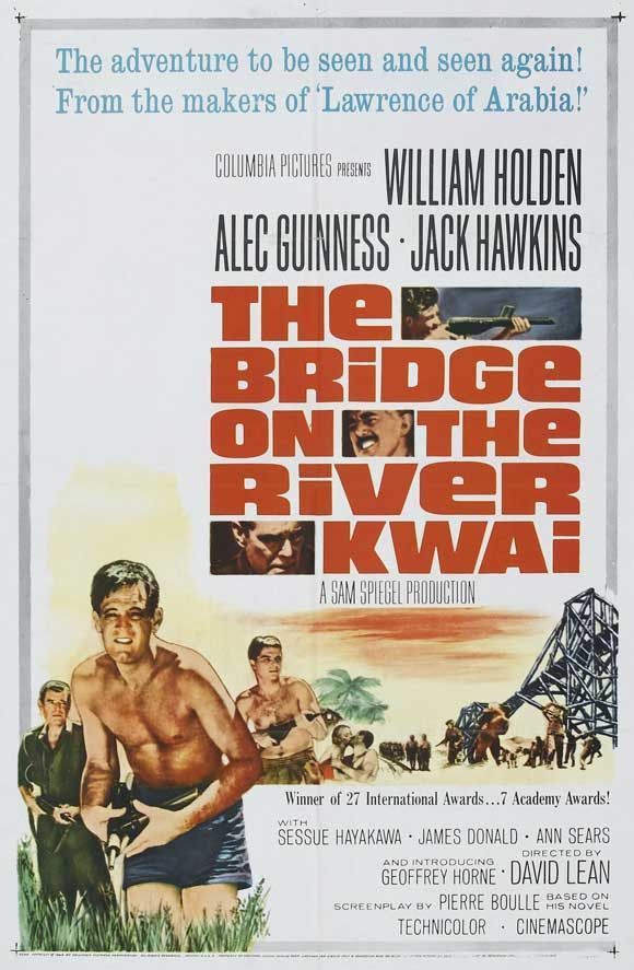Bridge On The River Kwai 27x40 Movie Poster 1957 Movie Posters Classic Movie Posters Best Actor Oscar