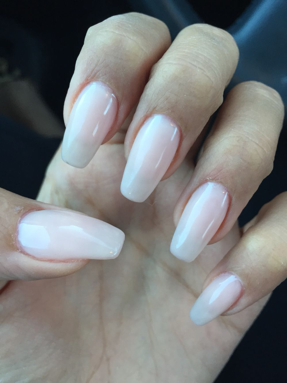 Square clear nails gel almond   Nails   Pinterest   Clear nails ...
