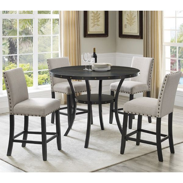 Crossville 5Piece Dining Set  Dining Pleasing Dining Room Head Chairs Design Ideas