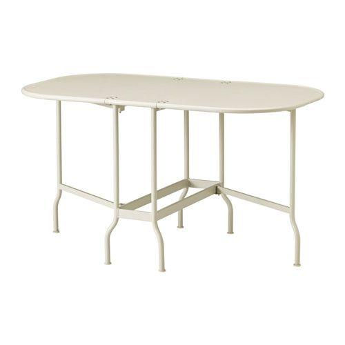Table De Jardin Pliante Ikea.Saltholmen Table Pliante Exterieur Beige Villa
