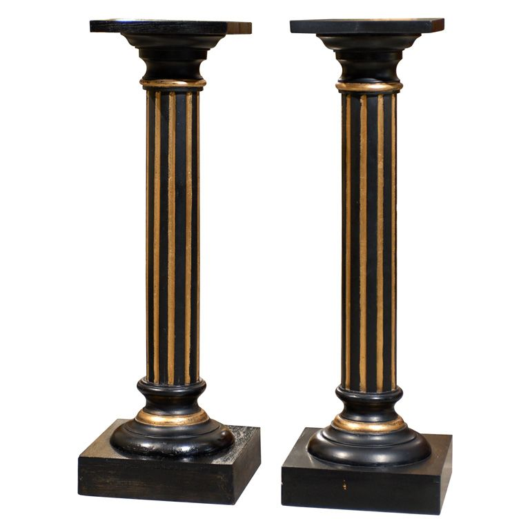 Pair of Antique Swedish Neoclassical Late Empire Pedestals | From a unique collection of antique and modern pedestals at http://www.1stdibs.com/furniture/tables/pedestals/