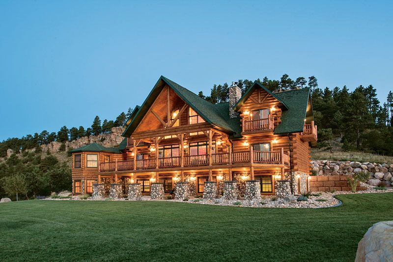 This Log Home Is A Black Hills Beauty Log Homes Log Homes