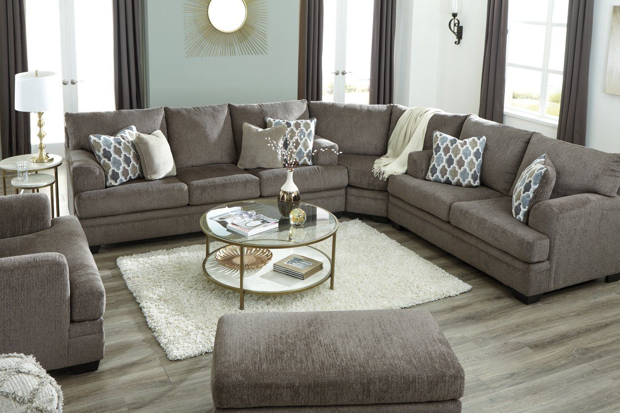 Dorsten 3 Piece Sectional Ashley Furniture Homestore In 2020 Living Room Decor Neutral Brown And Blue Living Room Brown Living Room Decor #pasadena #gray #living #room #sectional