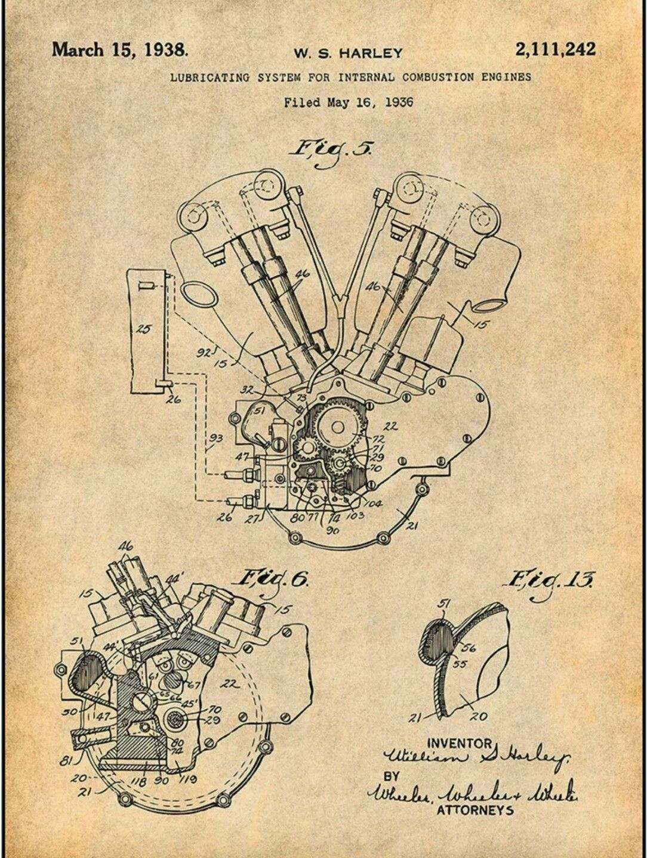 harley davidson patent [ 1084 x 1440 Pixel ]