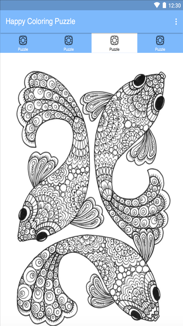 Happy Coloring Color By Number Coloring Happy Number Color Fish Coloring Page Mandala Coloring Pages Mandala Coloring