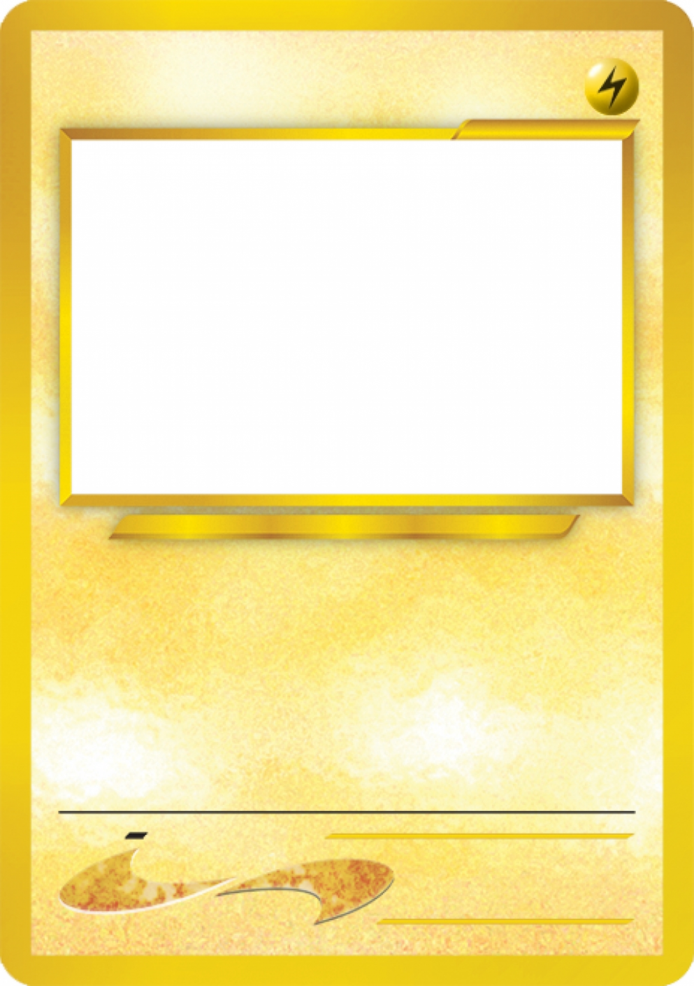 Blank Pokemon Card Pokemon Card Template Trading Card Template Pokemon Birthday Party