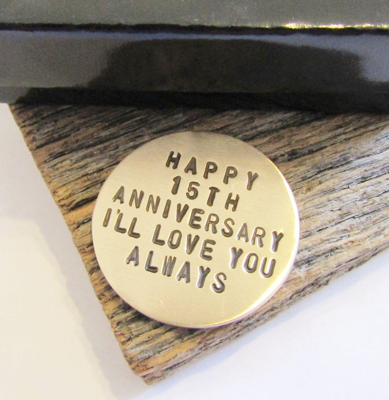 15th Anniversary Golf Ball Marker For Men 15th Wedding Anniversary