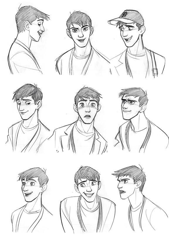 how to draw smart cartoon people