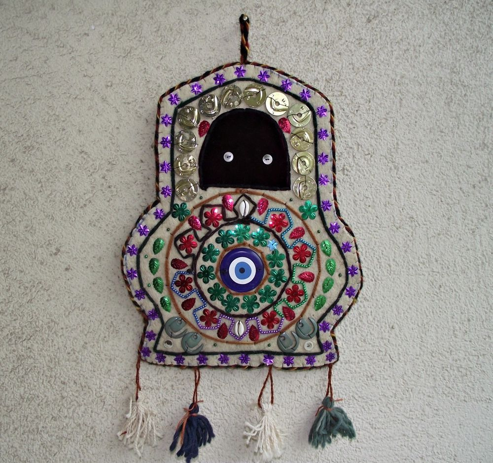 Evil eye wall decor vintage turkish handmade hanging wall original evil eye wall decor vintage turkish handmade hanging wall original rug kilim amipublicfo Gallery
