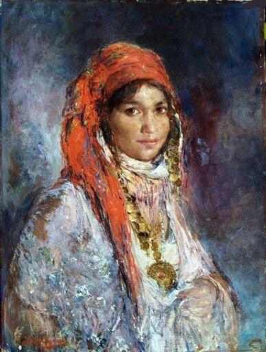 1a4f3b2b352 Algérie- Peintre Belge Edouard VERSCHAFFELT (1874-1955)