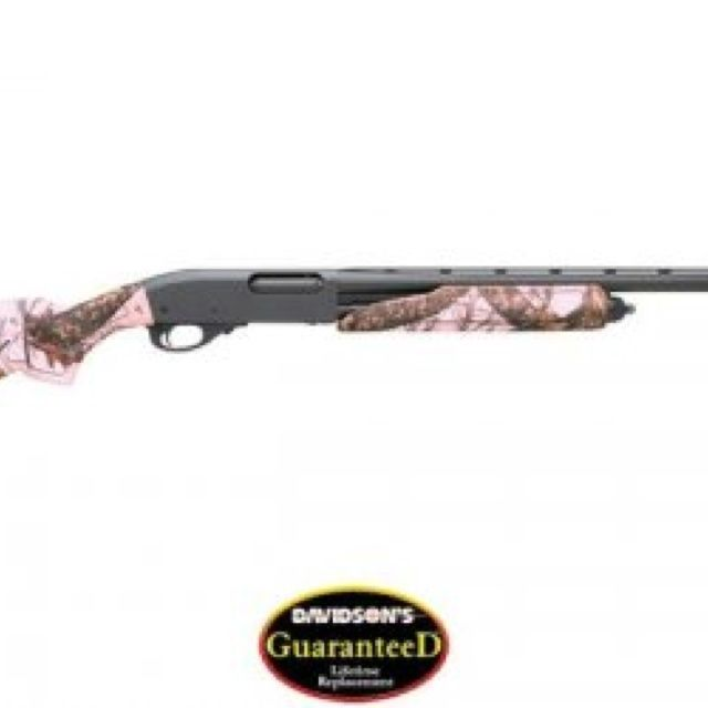 Remington 870 shotgun. 20 gauge:) Pink camo! #pinkcamo