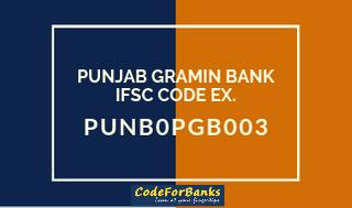 Punjab Gramin Bank Ifsc Code Punb0pgb003 Coding Bank Code Bank Branch