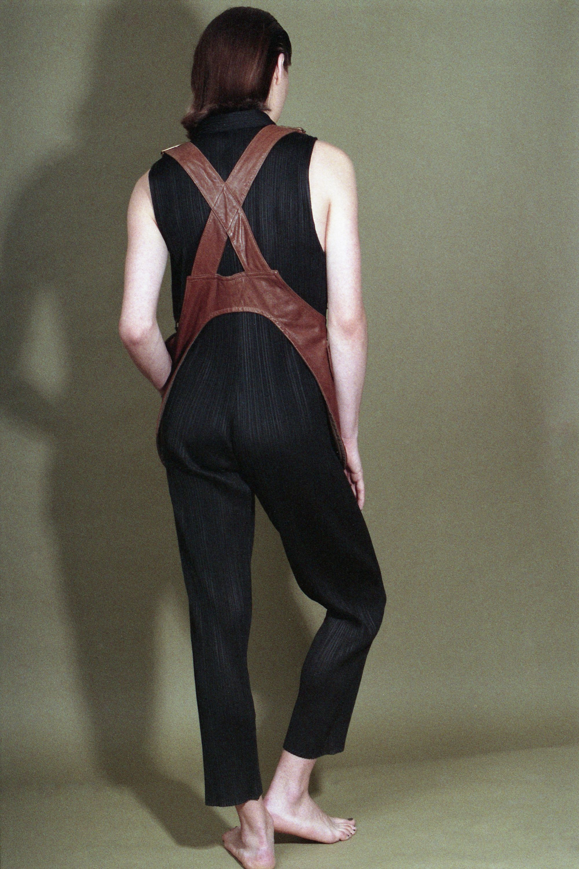 jumpsuit : Issey Miyake vest : Euro Trash Vintage <a href='http://novembremagazine.com' target='_blank'>novembremagazine.com</a>